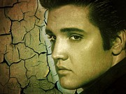 Gospel Mixed Media Framed Prints - Elvis Presley Framed Print by Christina Perry