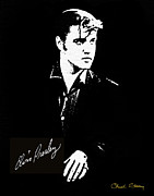 Signed Photo Posters - Elvis Presley Poster by Chuck Staley