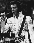 Elvis Presley Singing Print by Retro Images Archive