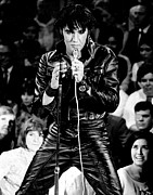 Elvis Presley In Leather Suit Print by Retro Images Archive