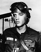 Elvis Presley In Military Uniform Print by Retro Images Archive