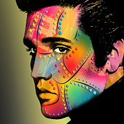 Presley Prints - Elvis Presley Print by Mark Ashkenazi