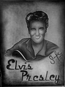 Elvis Presley Painting Originals - Elvis Presley  by Sarah Maria Scharfe