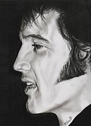 Elvis Drawings - Elvis Presley  The King by Fred Larucci