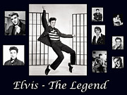 Jailhouse Rock Framed Prints - Elvis Presley - The Legend Framed Print by Darleen Stry