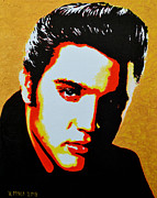 Elvis Presley Painting Originals - Elvis Presley by Victor Minca