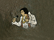 Elvis Presley Art - Elvis Rocks by David Lovelace