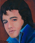 Rock And Roll Painting Originals - Elvis  by Sharon Duguay