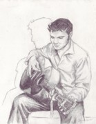 Elvis Presley Art - Elvis Sketch by Samantha Geernaert