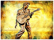 Elvis Solid Gold In Memphis  Print by Barbara Chichester