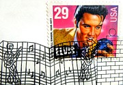 Collects Photo Framed Prints - Elvis Stamp with First Day Postmark Framed Print by Renee Trenholm