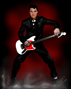 Elvis Presley Painting Originals - Elvis The King by Marlon Ramirez