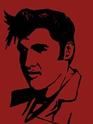 Love Me Tender Art - Elvis the King by Saundra Myles