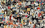 Beatles Mixed Media Acrylic Prints - Elvis The King Acrylic Print by Taylan Soyturk