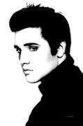 Rock N Roll Digital Art - Elvis2 by Steve Mitchell