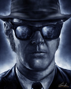 Fan Art Digital Art - Elwood by Casey Callender