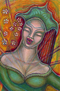 Visionary Artist Painting Prints - Emanating Print by Annette Wagner