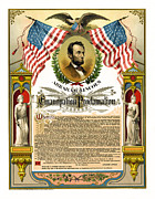 Slaves Metal Prints - Emancipation Proclamation Tribute 1888 Metal Print by Daniel Hagerman