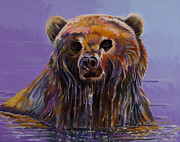 Abstracted Wildlife Art Posters - Embarrassed Poster by Bob Coonts