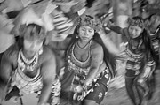 Happy Photo Framed Prints - Embera Villagers in Panama as black and white Framed Print by David Smith