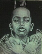 African American Drawings Originals - Embrace by Arron Kirkwood