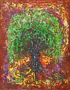Pallet Knife Prints - Embracing #2 Print by William Killen
