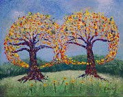 Pallet Knife Prints - Embracing Love Print by William Killen