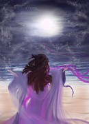 Believe Digital Art - Embracing Luna  by Roxy Riou