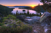 Sunrise Art - Emerald Bay by Sean Foster