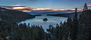 Lake Tahoe - Emerald Bay Sunset by Brad Scott