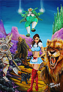 Brick Paintings - Emerald City by Mike Vanderhoof KINGMIKEV.com by Michael Vanderhoof