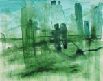 Togetherness Painting Prints - Emerald City Print by Lawrence  Dugan