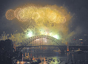 Eve Photo Originals - Emerald City - Sydney Harbour New Years Eve Fireworks by Philip Johnson