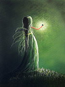 Silent Night Paintings - Emerald Fairy by Shawna Erback by Shawna Erback