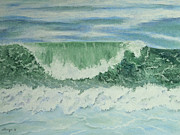 Wave Pastels - Emerald Green by Constance Widen