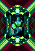 Creative Manipulation Framed Prints - Emerald Lady Framed Print by Andrew Govan Dantzler