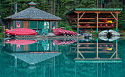 Deep Reflection Posters - Emerald Lake Boat Rental Poster by James Wheeler