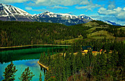 Yukon Framed Prints - Emerald Lake - Yukon Framed Print by Juergen Weiss