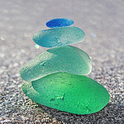 Stone Glass Art - Emerald Light by Barbara McMahon