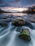 River Landscape Photos - Emerald rock by Davorin Mance