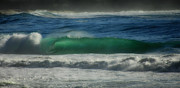 Blue Green Wave Framed Prints - Emerald Sea Framed Print by Donna Blackhall