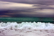 Grey Clouds Photo Originals - Emerald Sea by Martina  Rathgens