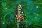 With Digital Art Originals - Emerald Universe by Michael Rucker