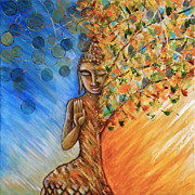 Namaste Paintings - Emerge by Roy Guzman