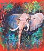 Africa Pastels Originals - Emergence by M Diane Bonaparte
