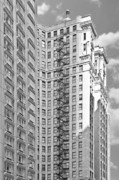 Art Of Building Prints - Emergency exit Chicago IL Print by Christine Till