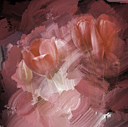 Red Flowers Art - Emerging by Diane Schuster