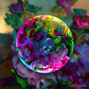 Spheres Digital Art - Emerging Spring  by Robin Moline