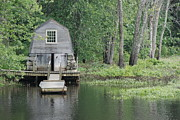 Concord Massachusetts Posters - Emerson Boathouse Concord Massachusetts Poster by Amy Porter