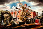 Residential Structure Painting Framed Prints - Emerson House Framed Print by Kip DeVore